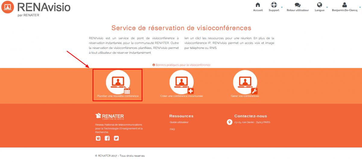 planifier une webconference